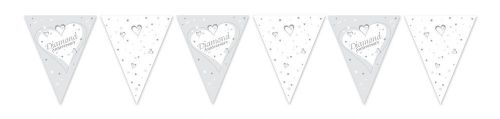 PAPER FLAG BUNTING 12FT DIAMOND ANNIVERSARY